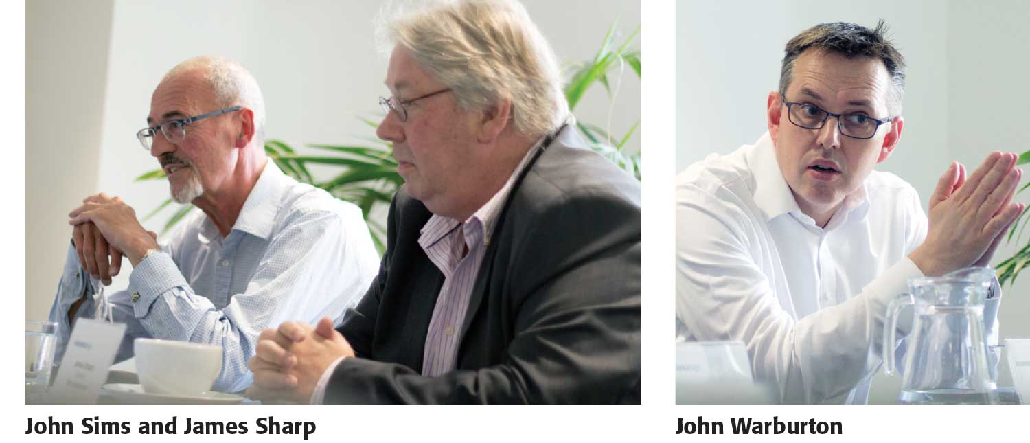 John Sims, James Sharp and John Warburton
