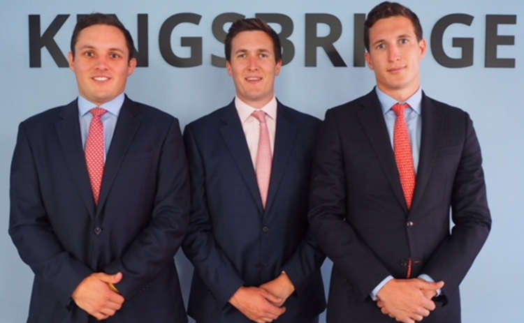 Liam Green, James Ledingham and Thomas Wynne of Kingsbridge Contractor Insurance.