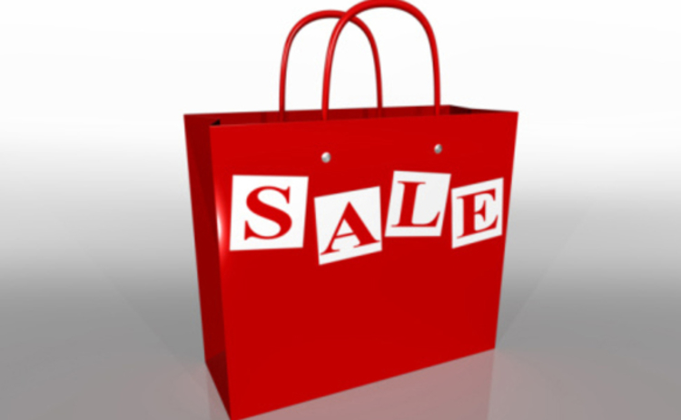 Sales online and in the shops