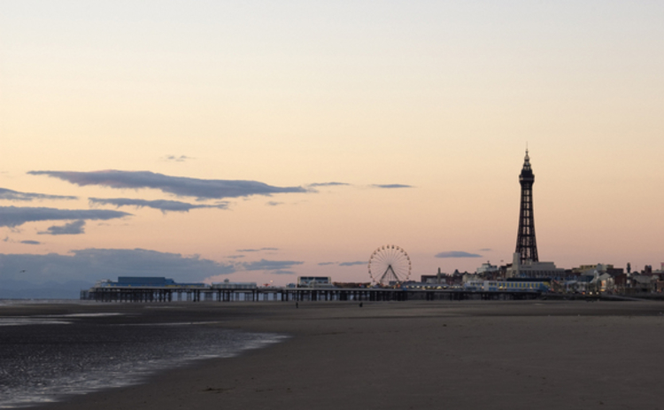 The Blackpool Pleasure Beach and tower