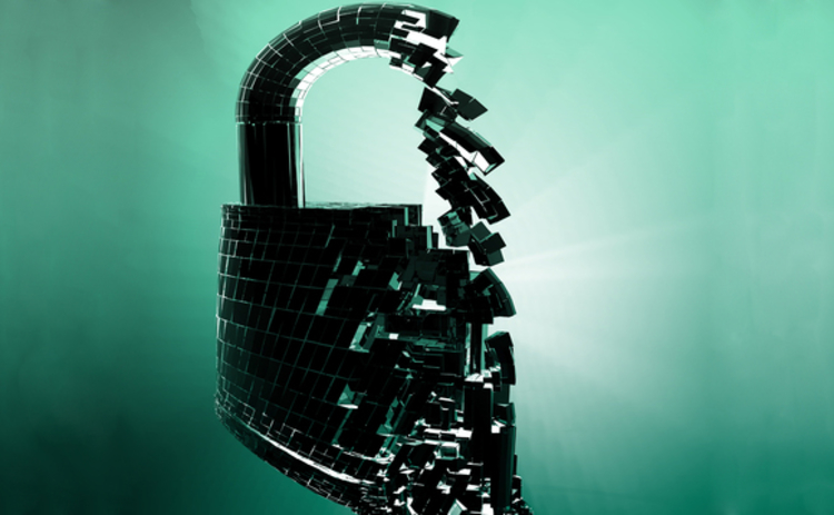 Security padlock image