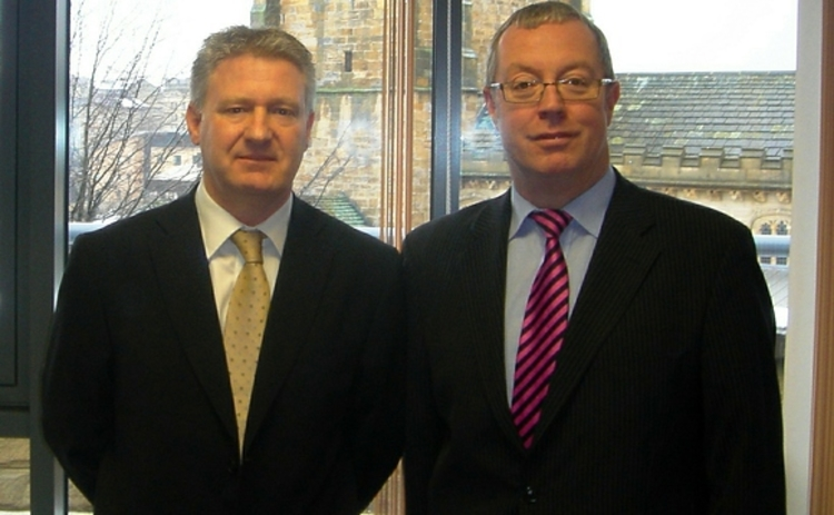 Nick Potts (left) and Mike Hutton NMJ Insurance Brokers