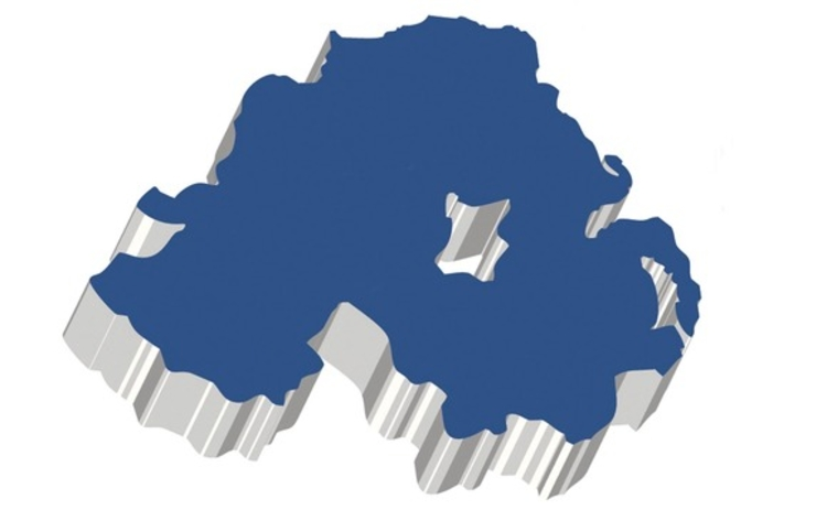 Northern Ireland 3D map