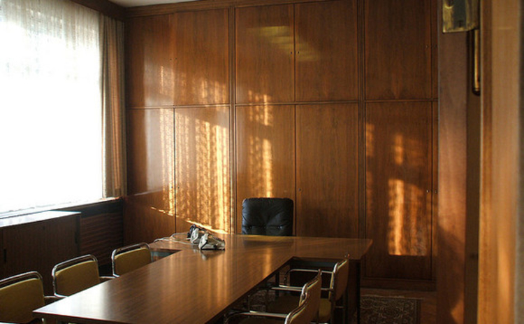 An empty boardroom