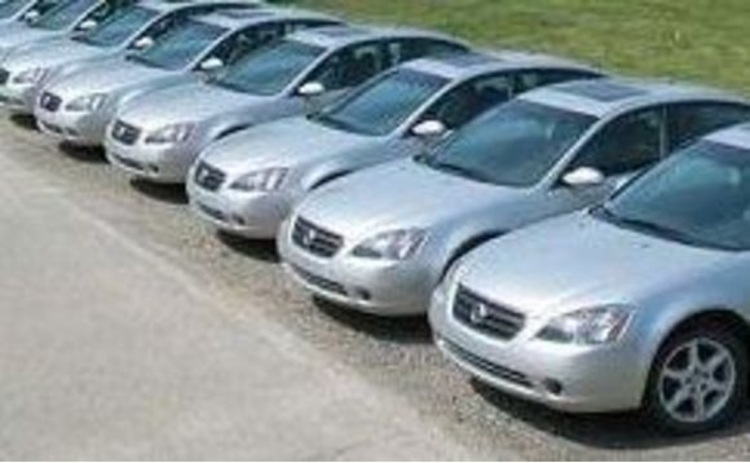 Silver fleet cars in car park