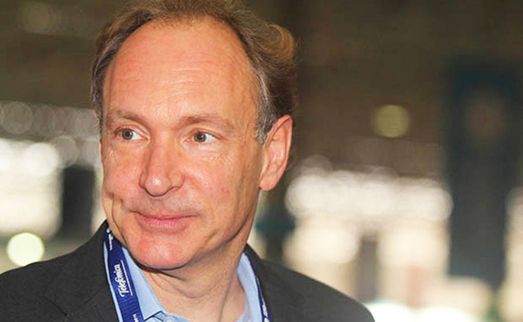 British physicist and computer scientist Tim Berners-Lee