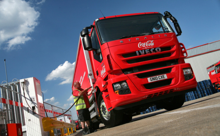 Coca-cola tests biomethane Iveco lorry