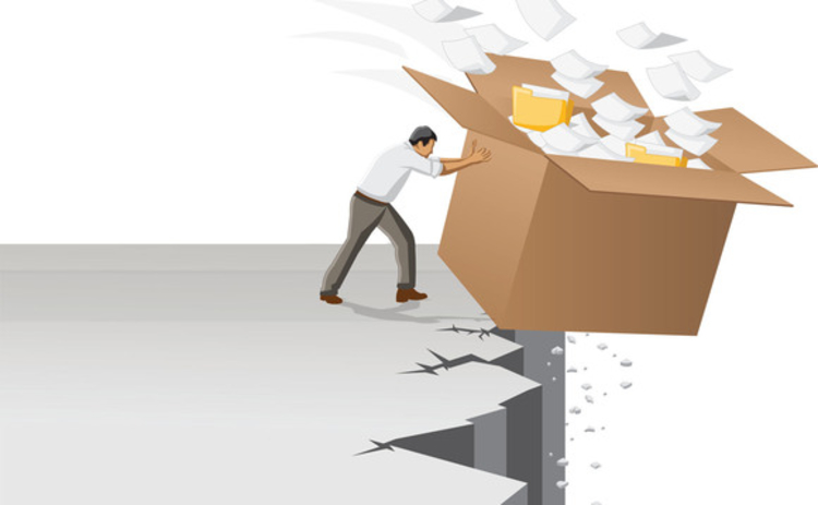 businessman-throws-out-box