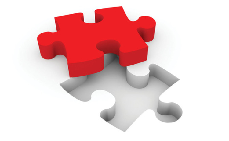 A red jigsaw piece